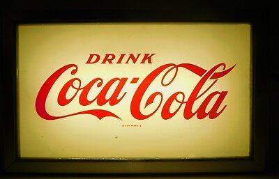 Vintage Drink Coca-Cola Coke Soda Fountain Lighted Advertising Sign