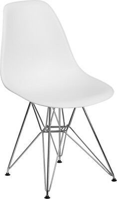 Mid Century Modern White Plastic Molded Chairs