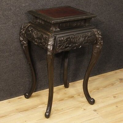Bedside low table wood furniture oriental living room antique style XX Antiquity