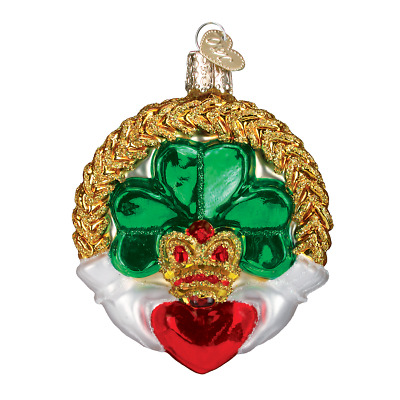 Old World Christmas St. Patrick's Day Ornaments...Claddagh