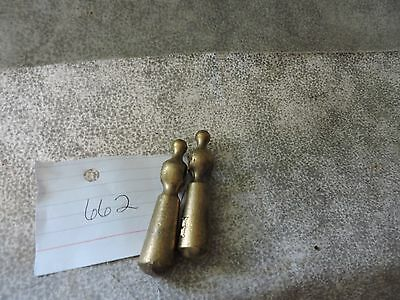 Vintage Brass Hot and Cold Knobs
