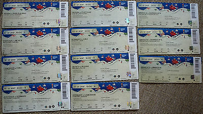 2017 FIFA CONFED CUP 11 DIFFERENT USED SAMMLER TICKETS INCL. FINAL good cond.