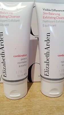 ❤❤ ELIZABETH ARDEN Visible Difference Balancing Exfoliating Cleanser 50ml x 2 ❤❤