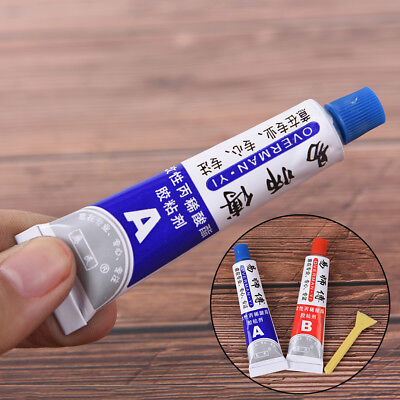 2X Ultrastrong AB Epoxy Resin Strong Adhesive Glue With Stick Plastic Wood Tool]