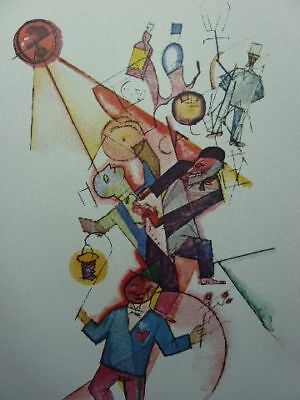 """GEORGE GROSZ - Offset Lithographie 1918 """"Mitsommernacht"""" !!"""