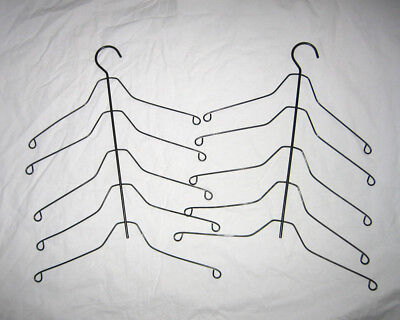 2 Vintage Heavy Wire Clothes Hangers