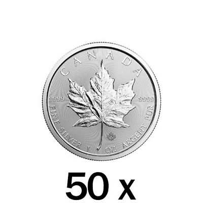 50 x 1 oz 2019 Silver Maple Leaf Coin - Royal Canadian Mint