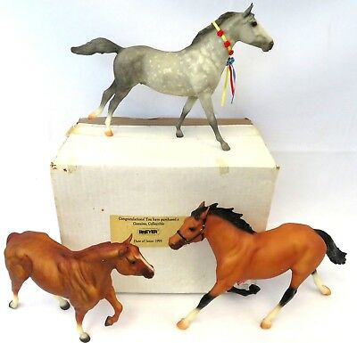 1995 Breyer Lot Of 3 Horses Vintage In The Box - Rare