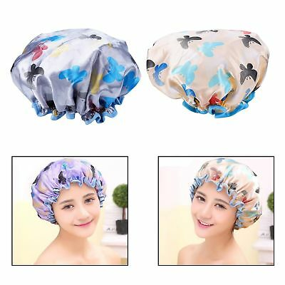 Itian 2 Pcs Waterproof Women Shower Cap Shower Hair Cap Elastic Band Spa Show...