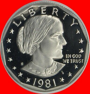 1981 S Susan B Anthony Type 2 Deep Cameo Gem Proof