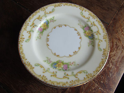 NORITAKE MIMI  BREAD BUTTER PLATE YELLOW & GREEN,FLORAL,CREAM vintage