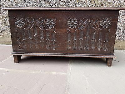 Antique arts and crafts oak chest