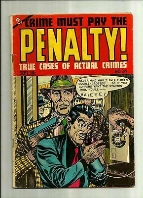Crime Must Pay The Penalty #34  1953 Ace Comics Pre-Code Golden Age Crime Comic
