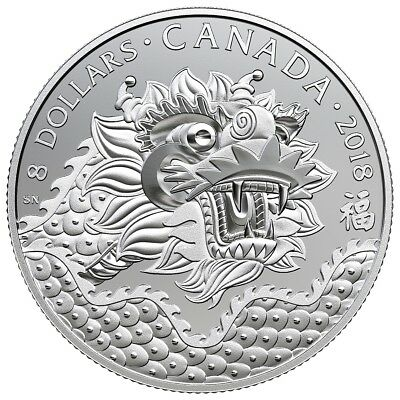 Dragon Luck – 2018 $8 1/4 Oz Fine Silver Coin – Royal Canadian Mint