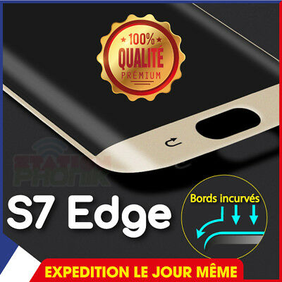 VITRE FILM PROTECTION ECRAN VERRE TREMPÉ SAMSUNG GALAXY S7 Edge 3D