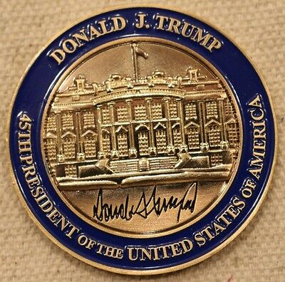 Donald J Trump 45th United States President Brass POTUS Challenge Coin not nypd
