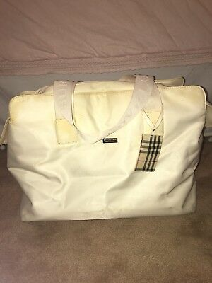 Burberry Fragrances Large White Tote, Overnight, Beach, Weekender