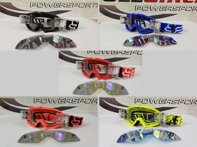 Fox Racing Main Race Goggle w/Total Vision Roll Off Film System Kit Clear/Mirror