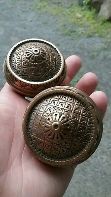 Antique  Collectible  Passage Mallory Wheeler Eastlake Cast Bronze  Door Knobs