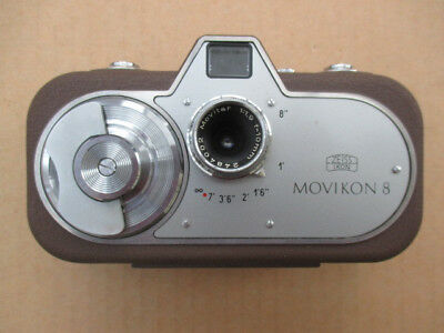 Unique Zeiss Ikon Movikin 8 8mm Movie Camera and Case 1952