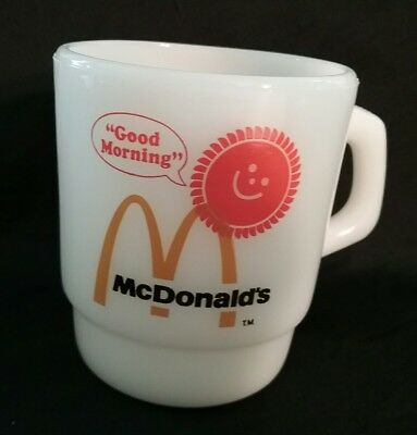 Vintage Anchor Hocking Fire King McDonald's Good Morning Coffee Mug