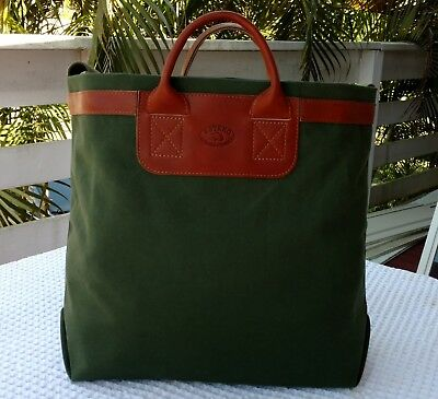 NEW!!! Leather and Canvas market tote bag. Handmade in the U.S.A.