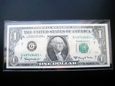 $1 1963 A***chicago Star***federal Reserve Note Choice Unc Gem Bu Note