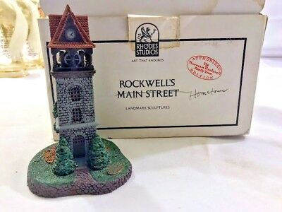 1991 Norman Rockwell Hometown Collection The Bell Tower #1076E