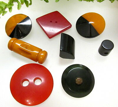 Nice Colorful Lot Of Vintage Bakelite & Catalin Buttons H98