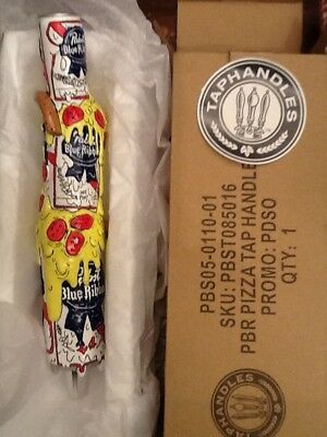 Pabst Blue Ribbon art tap handle the latest in the series  just released PIZZA