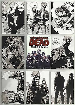 2012 The Walking Dead Comic Series 1 Complete Set of 90 Cards (1-90) & 1 Wrapper