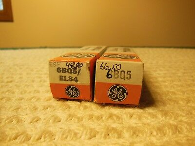 Lot Of 2 Nos General Electric Tubes 6Bq5 / El84 In Original Box Tested Good