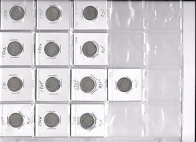 Complete 1900s run of Liberty Nickels from Philiadelphia 1900 thru 1912 as shown