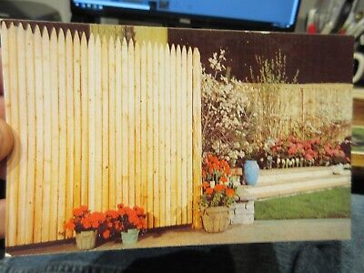Vintage Old Postcard OHIO Toledo Wood Products Company Picket Fence Garden Wall