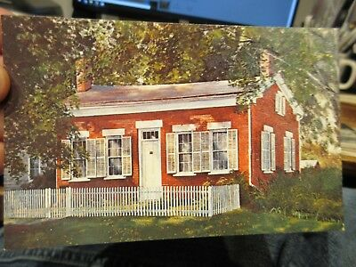 Vintage Old Postcard OHIO Milan Thomas Alva Edison Museum Birth House Brick Home