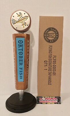 "Flying Fish Brewing Oktober Fish Beer Tap Handle 10.5"" - Brand New In Box!"