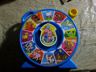 VTG.1989 Mattel The Farmer Says See & Say See 'n Say-Blue-WORKS GREAT CLEAN NICE