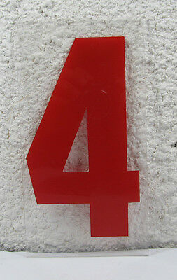 """Marquee Sign FOUR Numeral Vinyl 9"""" X 4-3/4"""" X 1/16"""" Signage"""
