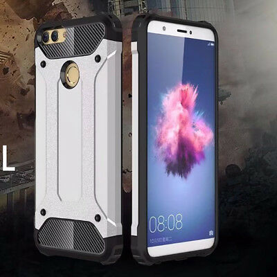 For Huawei P Smart Protective Hybrid Shockproof Hard Armor Cover Silicone Case