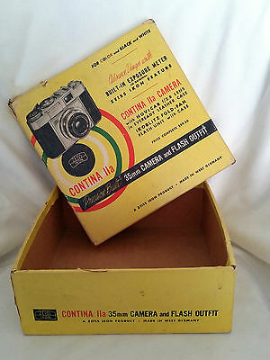 VTG Contina IIa 35mm Camera - Zeiss Ikon - West Germany - BOX for Camera + Flash