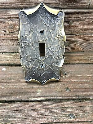 Vintage Amerock, Carriage House, Antique English Brass Light Switch Cover 9081-1