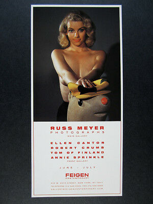 2002 Russ Meyer Photographs Exhibition photo NYC gallery vintage print Ad