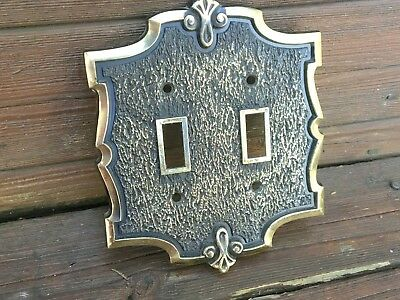 Bonaventure Collection Amerock Double Toggle Light Switch Cover Plate Vintage