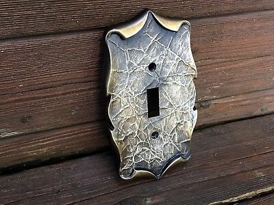 Vintage Amerock Brass Single Light Switch Plate Carriage House Antique English