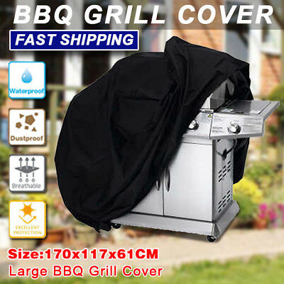 BBQ Cover 4 Burner Barbecue L170cm Outdoor Waterproof Dust Gas Charcoal