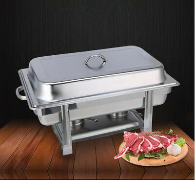 Stainless Steel Chafer with Frame Chafing Dishes Buffet Heater Food Tray Warmer
