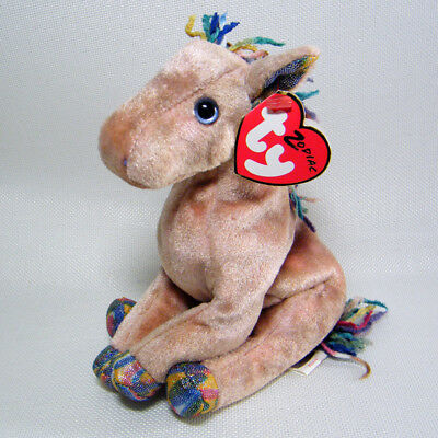 Ty Beanie Babies Zodiac HORSE with RARE Shimmer FABRIC EARS NWT Retired