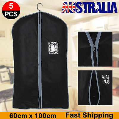 5x SUIT DRESS CLOTHING DUST COVER BAGS Jacket Wardrobe Storage Coat Protector