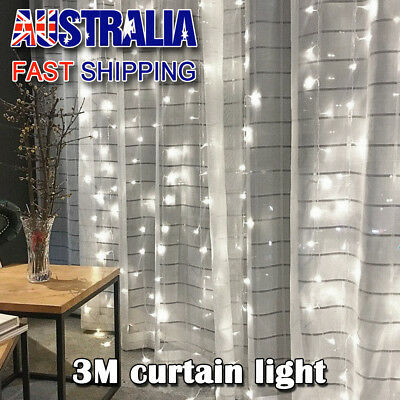 304 LED String Fairy Curtain Lights Waterfall Lamp Christmas Xmas Wedding Party