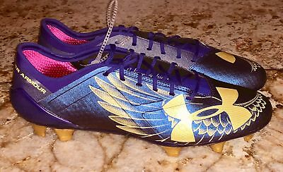 87bb07caba48 UNDER ARMOUR SpotLight Dream Chaser Purple Gold FG Soccer Cleats NEW Mens  Sz 10